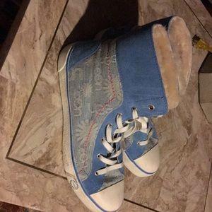 Hi top uggs sneakers. Women's Size  10. Worn once